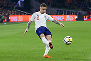 England defender Kieran Trippier crosses the ball during the Friendly match between Netherlands and England at the Amsterdam Arena, Amsterdam, Netherlands on 23 March 2018. Picture by Phil Duncan.