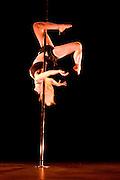 Lundi 14 Septembre 2009. Paris, France..Premiere competition Officielle de Pole Dance en France..20eme Theatre (Paris 20eme)..Stephanie Schmitt
