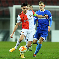 Steven Berghuis of Feyenoord and Sven Sprangler of Wolfsberger during the UEFA Europa League, Group K football match between Wolfsberger AC and Feyenoord on December 10, 2020 at Worthersee Stadion in Klagenfurt, Austria - Photo Yannick Verhoeven / Orange Pictures / ProSportsImages / DPPI