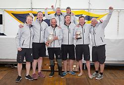 Clyde Cruising Club's Scottish Series 2019<br /> 24th-27th May, Tarbert, Loch Fyne, Scotland<br /> <br /> Prizegiving<br /> <br /> IRL2160, Chimaera, Royal Irish YC, IRC<br /> Overall Winners<br /> <br /> Credit: Marc Turner / CCC