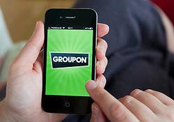 Groupon app on an  iPhone 4G smart phone