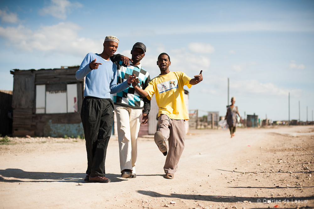 Young men in township Motherwell, South Africa