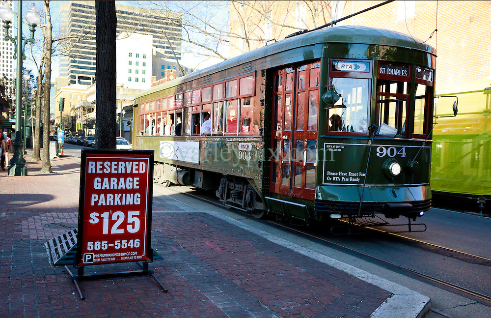 03 Feb 2013. New Orleans, Louisiana USA. .Super Bowl Sunday. Parking rates go through the roof for a day.  The city hosts the XLVII (47th) Annual Super Bowl with the Baltimore Ravens against the San Francisco 49'ers. .Photo; Charlie Varley