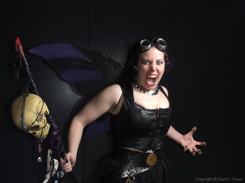 Devon (San Francisco) dressed as a vampire for the WonderCon comics convention in San Francisco.