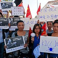 Protesta dei cinesi contro Giappone