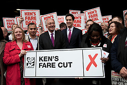 © licensed to London News Pictures. London, UK 14/03/2012. Ed Miliband and Ken Livingstone launching Labour's London election pledges for this year's mayoral election, outside London Bridge Station, today (14/03/12). Photo credit: Tolga Akmen/LNP