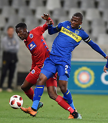 Cape Town-180804 Cape Town city defender Thami Mkhize challenged by Evans Rusike  of Supersport in the first game of the 2018/2019 season at Cape Town Stadium.photograph:Phando Jikelo/African News Agency/ANAr
