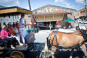 A horse carriage passes the newly restored Charleston City Market May 20, 2011 in Charleston, SC.