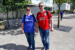 May 19, 2018 - London, England, United Kingdom - Man U and Chelsea couple at the FA Cup  attend The Emirates FA Cup Final between Chelsea and Manchester United at Wembley Stadium on May 19, 2018 in London, England. (Credit Image: © Alex Cavendish/NurPhoto via ZUMA Press)