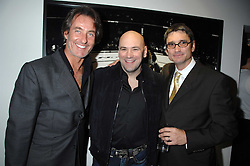 Left to right, TIM JEFFERIES, DANA WHITE the current President of the Ultimate Fighting Championship and photographer KEVIN LYNCH at a private view of Octagan a showcase of work of photographer Kevin Lynch featuring the stars of the Ultimate Fighter Championship held at Hamiltons gallery, Mayfair, London on 17th January 2008.<br /><br />NON EXCLUSIVE - WORLD RIGHTS