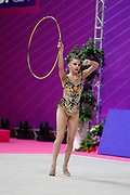 Averina Dina during qualifying in Pesaro World Cup at Virtifrigo Arena on may 28-29, 2021.Dina is the 2017-2018-2019 World All-around Champion. She was born on August 13, 1998 in Zavolzhye, Russia. Dina has a twin sister  Arina, she is also a great gymnast.