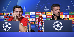 November 26, 2019, Genk, UNITED KINGDOM: Salzburg's Maximilian Wober and Salzburg's head coach Jesse Marsch pictured during a press conference of Austrian club RB Salzburg, Tuesday 26 November 2019 in Genk, in preparation of tomorrow's match against Belgian soccer team KRC Genk in the group stage of the UEFA Champions League. BELGA PHOTO YORICK JANSENS (Credit Image: © Yorick Jansens/Belga via ZUMA Press)