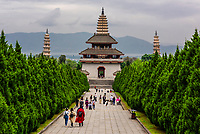 Chongsheng Temple, Dali, Yunnan Province, China. The temple dates from the 9th and 10th centuries.