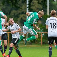 02.08.2020, wohninvest Weserstadion Platz 12, Bremen, GER,FSP, FLYERALARM, FFBL SV Werder Bremen vs  SV Henstedt-Ulzburg, <br /> <br /> <br /> <br />  im Bild<br /> <br /> Kopfball Michelle Ulbrich (WerderBremen5)<br /> Chiara Pawelec<br /> <br /> <br /> Foto © nordphoto / Kokenge