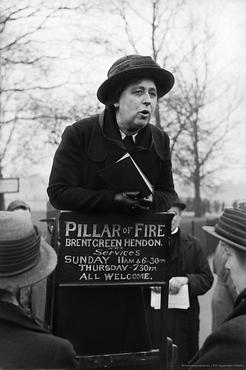 Orators at Hyde Park, London, c1935
