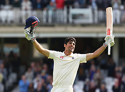 September 10, 2018 - London, England, United Kingdom - England's Alastair Cook celebrates his century.during International Specsavers Test Series 5th Test match Day Four  between England and India at Kia Oval  Ground, London, England on 10 Sept 2018. (Credit Image: © Action Foto Sport/NurPhoto/ZUMA Press)