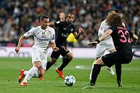 Real Madrid´s Lucas Vazquez during Champions League soccer match between Real Madrid  and Paris Saint Germain at Santiago Bernabeu stadium in Madrid, Spain. November 03, 2015. (ALTERPHOTOS/Victor Blanco)