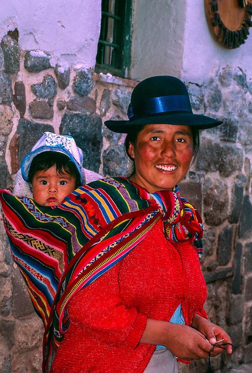 Peruvian mother and baby, Cuzco, Peru