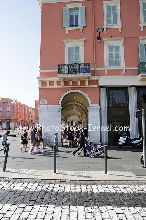 Street scene in the old town Nice, France