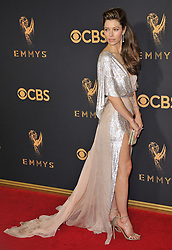 Jessica Biel at the 69th Annual Emmy Awards held at the Microsoft Theater on September 17, 2017 in Los Angeles, CA, USA (Photo by Sthanlee B. Mirador/Sipa USA)