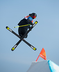 February 18, 2018 - Pyeongchang, South Korea - JESPER TJADER of Sweden competes in the Mens Ski Slopestyle competition Sunday, February 18, 2018 at Phoenix Snow Park at the Pyeongchang Winter Olympic Games.  Photo by Mark Reis, ZUMA Press/The Gazette (Credit Image: © Mark Reis via ZUMA Wire)