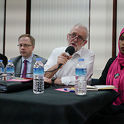 London, Uk. 15th October 2017. Richards Watts – Leader of Islington Council join the discussion Hate Crime Against Muslim Women.