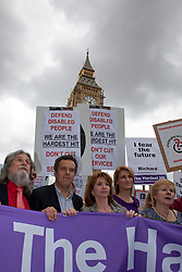©under licence to London News Pictures. Thousands of disabled people march through Central London on the Hardest Hit March to protest against budget cuts for sick and disabled people. In this picture: Actress Jane Asher. 11/05/2011. Photo credit should read Bettina Strenske/LNP.