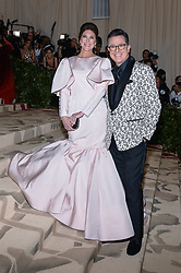 Evelyn McGee-Colbert and Stephen Colbert walking the red carpet at The Metropolitan Museum of Art Costume Institute Benefit celebrating the opening of Heavenly Bodies : Fashion and the Catholic Imagination held at The Metropolitan Museum of Art  in New York, NY, on May 7, 2018. (Photo by Anthony Behar/Sipa USA)