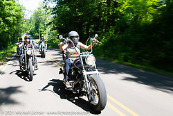 Missi Shoemaker on a Sunday ride on the beautiful roads near the Tennessee Motorcycles and Music Revival. Hurricane Mills, TN, USA. May 23, 2021. Photography ©2021 Michael Lichter.