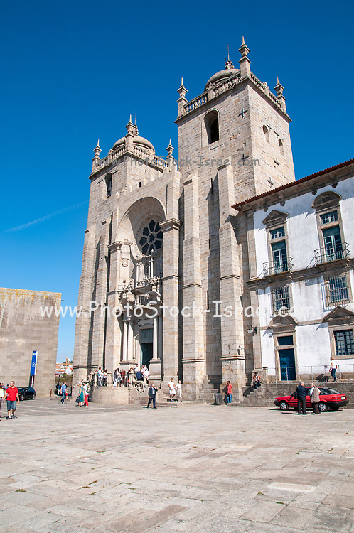Porto, Portugal the 12th century Romanesque Cathedral on Cathedral Hill
