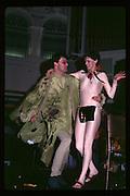 Paul Newman and Caroline Brown at Piers Gaveston Ball. Oxford Town Hall. 1981 approx© Copyright Photograph by Dafydd Jones 66 Stockwell Park Rd. London SW9 0DA Tel 020 7733 0108 www.dafjones.com