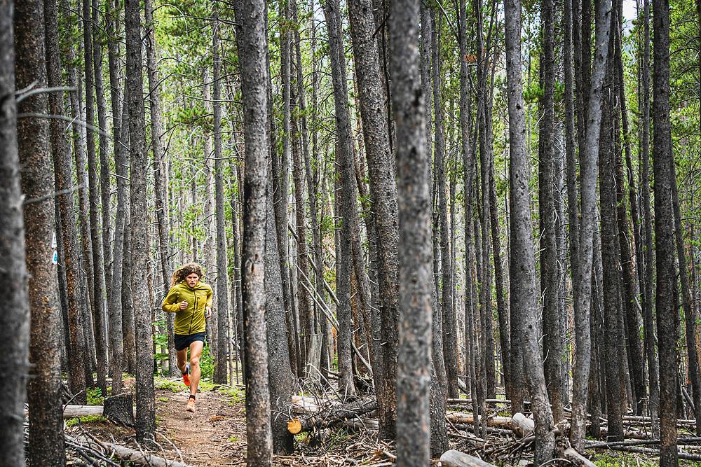 Joe Grant strolling through the Gold Hill Trail, Breckenridge, Colorado.