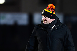 Dragons' Head Coach Bernard Jackman during the pre match warm up<br /> <br /> Photographer Craig Thomas/Replay Images<br /> <br /> EPCR Champions Cup Round 3 - Newport Gwent Dragons v Newcastle Falcons - Saturday 15th December 2017 - Rodney Parade - Newport<br /> <br /> World Copyright © 2017 Replay Images. All rights reserved. info@replayimages.co.uk - www.replayimages.co.uk