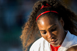 July 31, 2018: Serena Williams (USA ) was defeated by Johanna Konta (GBR ) 6-1, 6-0 in first round action at the Mubadala Silicon Valley Classic at San Jose State University in San Jose, California. ©Mal Taam/TennisClix/CSM(Credit Image: © Mal Taam/CSM via ZUMA Wire)