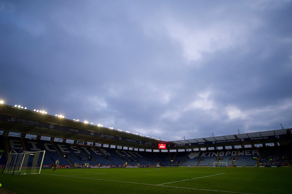 Plenty of empty seats at the King Power Stadium..Football - FA Challenge Cup Third Round - Leicester City v Burton Albion - Saturday 5th January 2013 - King Power Stadium - Leicester..