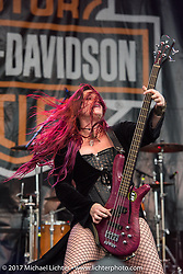 Jasmine Cain performs on the Harley-Davidson Stage at the Full Moon Saloon during Daytona Beach Bike Week. FL. USA. Sunday March 12, 2017. Photography ©2017 Michael Lichter.