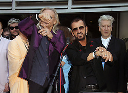 Ringo Starr celebrated his birthday with family, friends, and fans for a #PeaceAndLove salute at Noon at The Capital Records Tower in Hollywood, California on 7/7/17. 07 Jul 2017 Pictured: Ringo Star, David Lynch. Photo credit: River / MEGA TheMegaAgency.com +1 888 505 6342