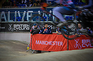 Team managers at the 2014 UCI BMX Supercross World Cup in Manchester.