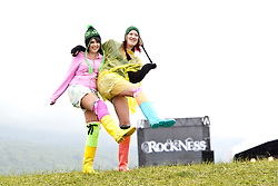 Leighanne Gillespie & Sarah Casey at the main arena at Rockness, Sunday 13th June 2010..Pic ©2010 Michael Schofield. All Rights Reserved.