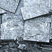 Broken granite slabs