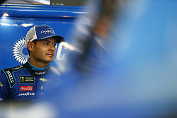 July 20, 2018 - Loudon, New Hampshire, United States of America - Kyle Larson (42) hangs out in the garage during practice for the Foxwoods Resort Casino 301 at New Hampshire Motor Speedway in Loudon, New Hampshire. (Credit Image: © Justin R. Noe Asp Inc/ASP via ZUMA Wire)