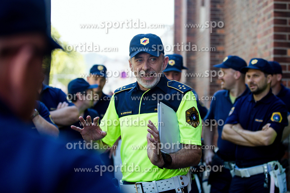 Policeman Matjaz Leskovar during 2nd Stage of 26th Tour of Slovenia 2019 cycling race between Maribor and Celje (146,3 km), on June 20, 2019 in Slovenia.. Photo by Matic Klansek Velej / Sportida