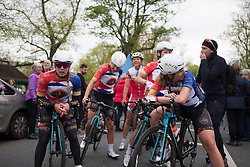 Storey Racing riders cool down after finishing the Tour de Yorkshire - a 122.5 km road race, between Tadcaster and Harrogate on April 29, 2017, in Yorkshire, United Kingdom.
