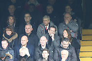 Arsene Wenger, the Arsenal manager watching from the stands.Premier league match, Chelsea v Arsenal at Stamford Bridge in London on Saturday 4th February 2017.<br /> pic by John Patrick Fletcher, Andrew Orchard sports photography.