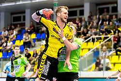 27.04.2018, BSFZ Suedstadt, Maria Enzersdorf, AUT, HLA, SG INSIGNIS Handball WESTWIEN vs Bregenz Handball, Viertelfinale, 1. Runde, im Bild Povilas Babarskas (Bregenz Handball) // during Handball League Austria, quarterfinal, 1 st round match between SG INSIGNIS Handball WESTWIEN and Bregenz Handball at the BSFZ Suedstadt, Maria Enzersdorf, Austria on 2018/04/27, EXPA Pictures © 2018, PhotoCredit: EXPA/ Sebastian Pucher