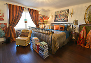 """This is the master bedroom. Photo taken on January 8, 2019 for """"At Home"""" feature on Sandy Stolberg, who uses dollar store finds as part of the decorations in her Belleville, IL condo.<br /> Photo by Tim Vizer"""