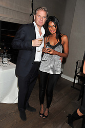 GILES MACKAY and KARTINI GANAPATHY  at a dinner hosted by Marlon & Nadya Abela at Cassis 232-236 Brompton Road, London to thank customers & friends for their custom held on 9th February 2012.