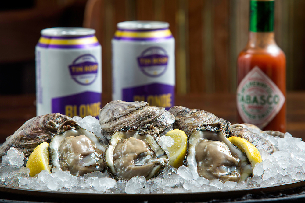 Oysters on the half-shell and cold Louisiana brewed beer.