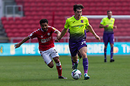 Bristol City's Jay Dasilva (3) tries desperately to catch Exeter City's Josh Key (30) during the EFL Cup match between Bristol City and Exeter City at Ashton Gate, Bristol, England on 5 September 2020.