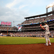 NEW YORK, NEW YORK - July 07: A general view of Bartolo Colon #40 of the New York Mets pitching to Daniel Murphy #20 of the Washington Nationals as Bryce Harper #34 of the Washington Nationals waits on deck during the Washington Nationals Vs New York Mets regular season MLB game at Citi Field on July 07, 2016 in New York City. (Photo by Tim Clayton/Corbis via Getty Images)